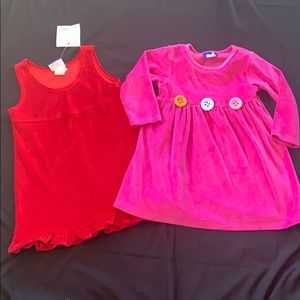 Made In USA -Set of 2 Velour Tunic /Dresses